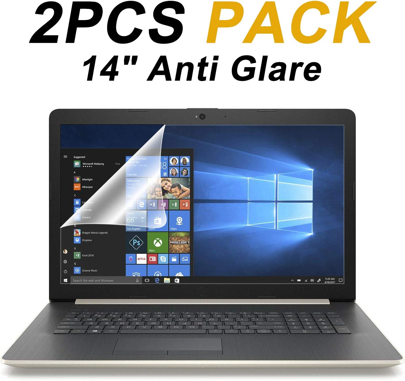 2-Pack FORITO 14 Inch Laptop Anti Glare(Matte) Screen Protector Cover for All 16:9 Aspect Ratio Laptop, Scratch Proof, Dust-Proof and Fingerprint Resistant 71JyiA2%2BOZL