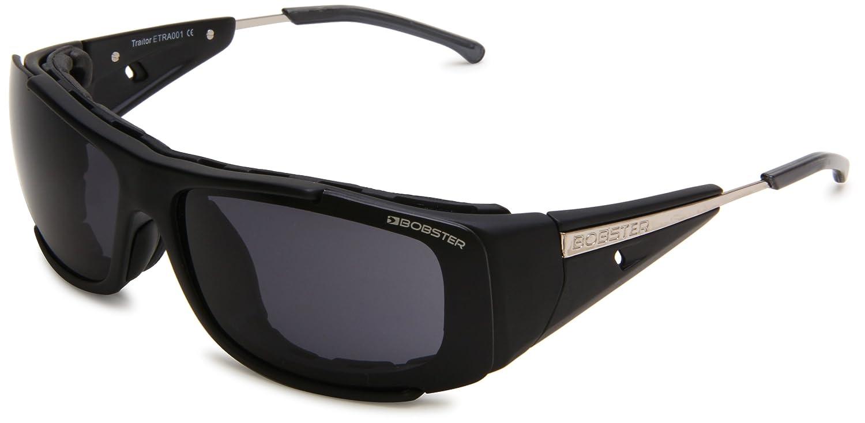 Bobster Traitor ETRA001 Rectangular Sunglasses, Black Frame/Smoke Lens, One Size