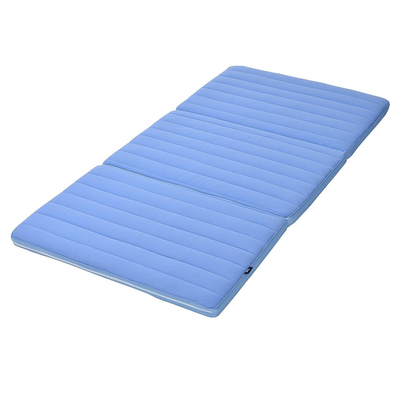 ライズ スリープオアシスエントリー マットレス シングルサイズ 高反発ファイバー 厚さ5cm 通気性が高く丸洗い可能 ブルー B0769PR8Q2 Parent