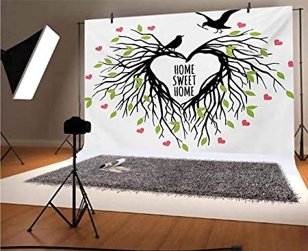 7x7FT Vinyl Photo Backdrops,Owl,Adorable Birds at Tea Party Photo Background for Photo Booth Studio Props