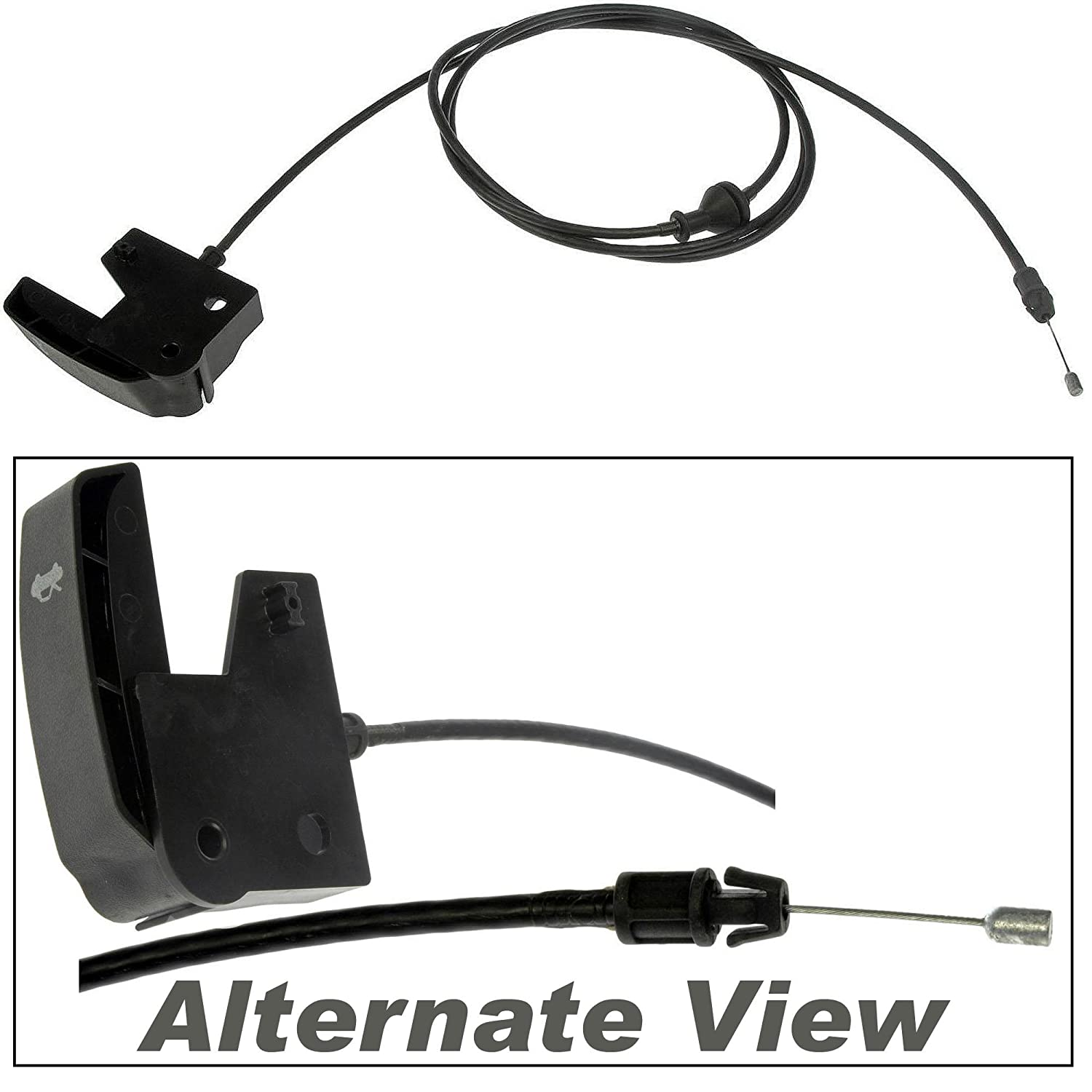 APDTY 023148 Hood Release Cable with Handle For 2004-2007 Buick Rainier / 2004-2006 Chevy SSR / 2002-2009 Chevy Trailblazer / 2002-2009 GMC Envoy / 2003-2008 Isuzu Ascender / 2002-2004 Olds Bravada / 2005-2009 Saab 9-7x (Replaces 21997874)
