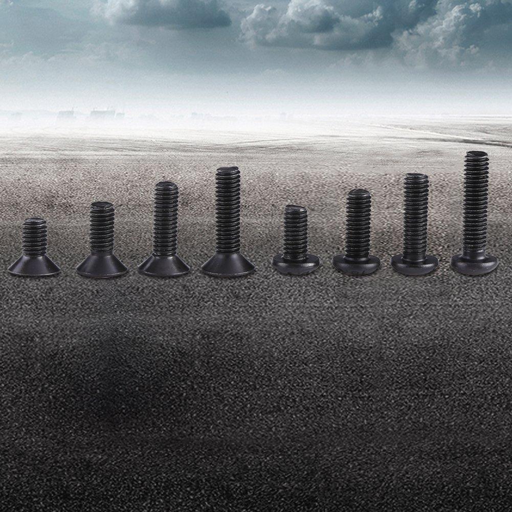 Akozon Boulons et /écrous 180pcs M3 vis /à t/ête plate /à six pans creux hexagonaux et kit dassortiment de rondelles M3//M4