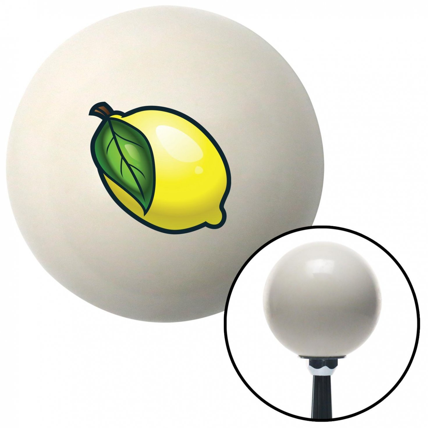 American Shifter 42414 Ivory Shift Knob with 16mm x 1.5 Insert Lemon