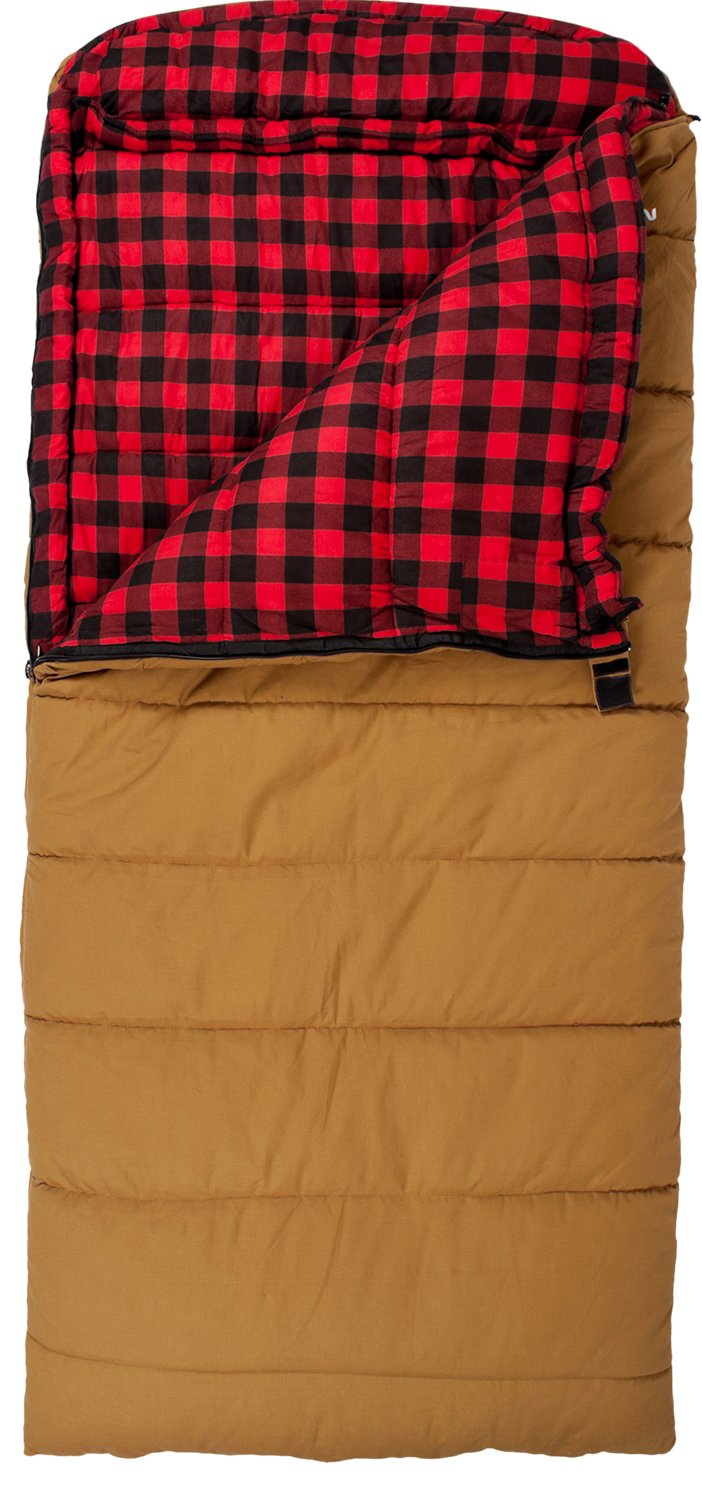Sleeping Bag Double Layer Flannel Camping Hiking Outdoor ...