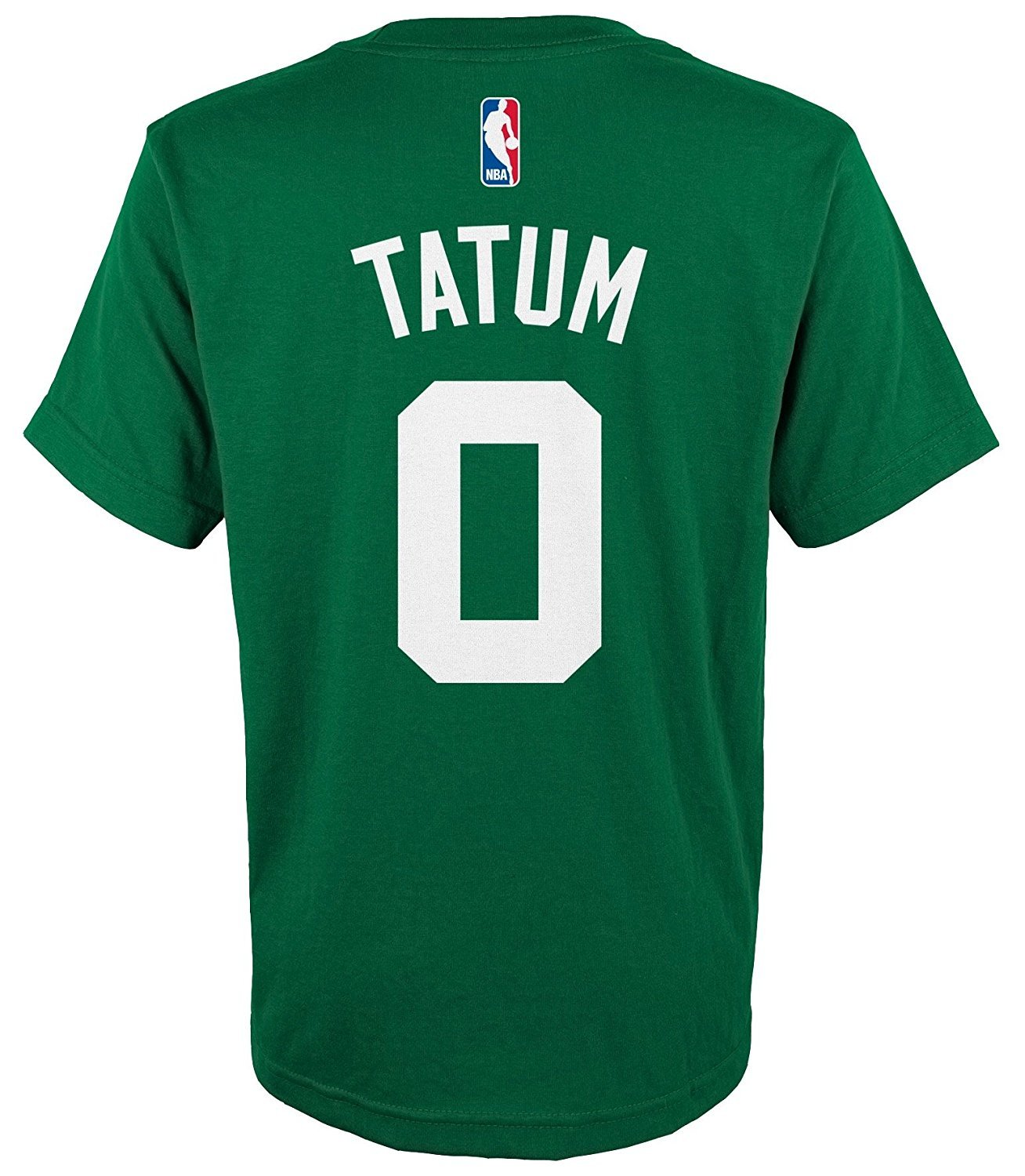 Amazon.com   Outerstuff Jayson Tatum Boston Celtics Youth Green Name and  Number Player T-Shirt   Sports   Outdoors d5c16669a