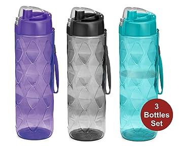 Milton Homery - Botellas de agua para bebidas, para adultos, a prueba de fugas