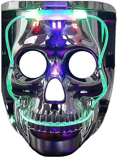 """8/"""" Masks Light-up Skull Childrens Costume"""