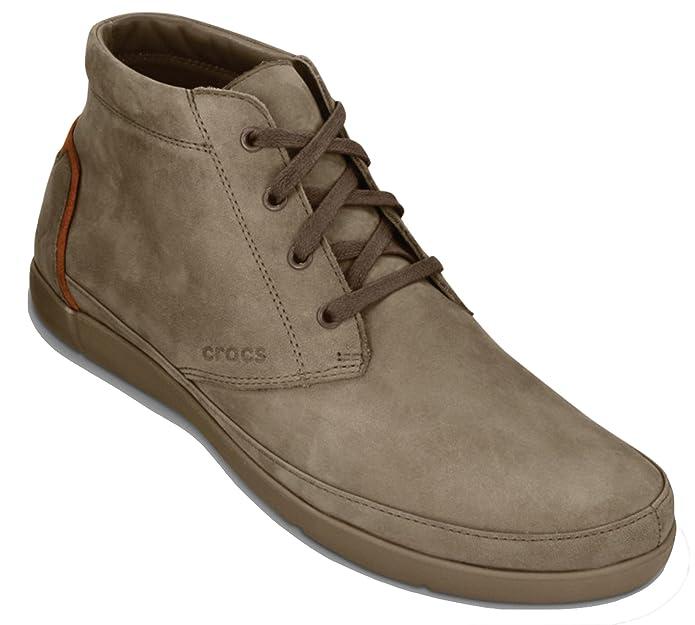 Crocs - Botas de Ante para Hombre Beige Walnut/Khaki 40 EU: Amazon.es: Zapatos y complementos