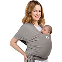 Baby Wrap Carrier Sling Holder - Grey - Toddler, Newborn, Infant, Child - Front, Hip and Kangaroo Holds - Ergonomic Baby…