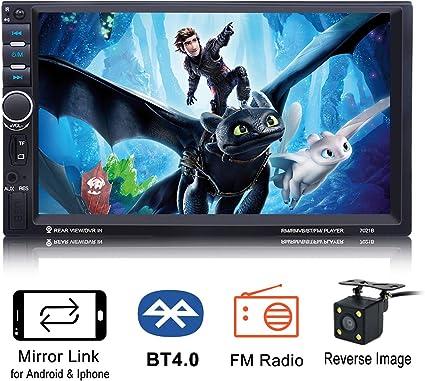 Universal Black Car Stereo MP3 Player Kit Blueteeth AUX SD USB FM Radio Remote