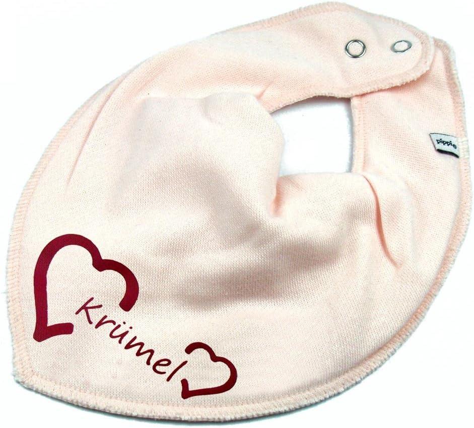 HALSTUCH Herz mit Namen oder Text personalisiert dunkelblau f/ür Baby oder Kind