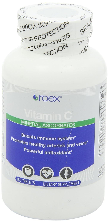 Amazon.com: roex Vitamina C Mineral ascorbates tabletas, 180 ...