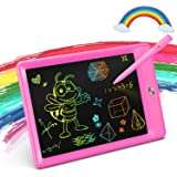 KOKODI Girls Toys for 3-6 Year Old Girls Gifts, 8.5-Inch Colorful LCD Writing Tablet Doodle Board Drawing Pad, Educational Birthday Gifts as Girls Toys for Age 3 -6 (Rose Red)