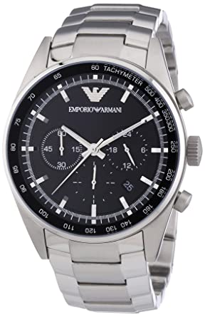 Emporio Armani Sportivo Mens Stainless Steel Watch AR5980