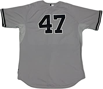 1f10f385400 Ivan Nova Jersey - NY Yankees 2015 Game Used  47 Grey Cool Base Jersey (