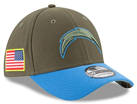 quality design 7ba09 e13b9 Image Unavailable. Image not available for. Color  Los Angeles Chargers New  Era NFL 39THIRTY 2017 Sideline ...