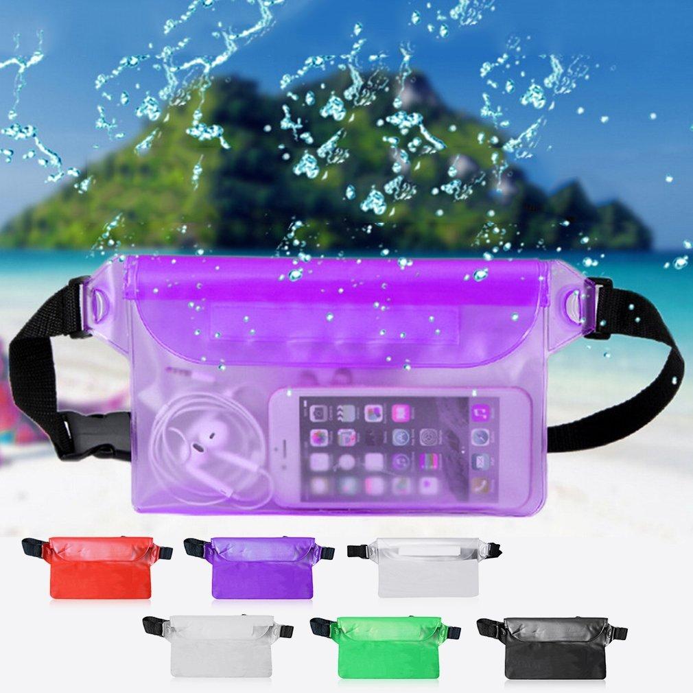 Nihlsfen Universal Seal Type Men Women Waterproof Waist Bag Outdoor Swimming Beach Use Mobile Phone PVC Pouch Belt Bag