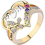 Mother's Day Love Heart Ring Mother's Day Ring Gift for Great Mom