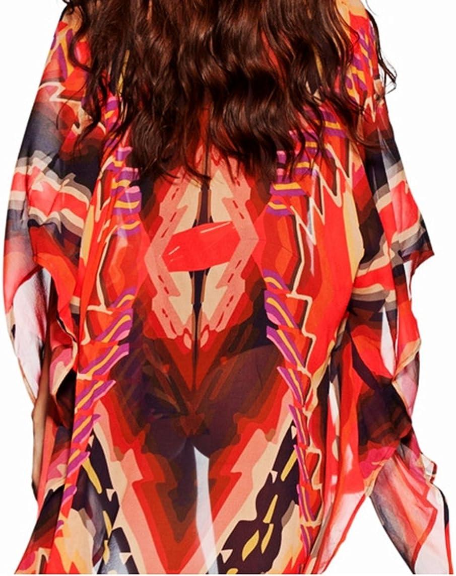 New Black and Red Block Bikini Cover Up Cardigan Short Front Long Back Beachwear Rash Guards