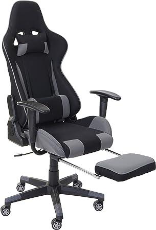 Mendler Chaise de Bureau HWC D25 XXL, capacité 150kg, Tissu