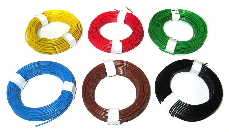 Kupferdraht - Schaltdraht 0,5mm 6 Ringe je 10 Meter: Amazon.de ...