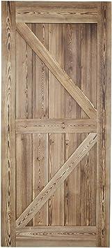 Panel de madera reclinable para puerta corredera interior de comedor, 36/42 pulgadas x 84 pulgadas, kit de herramientas para puerta corredera: Amazon.es: Bricolaje y herramientas
