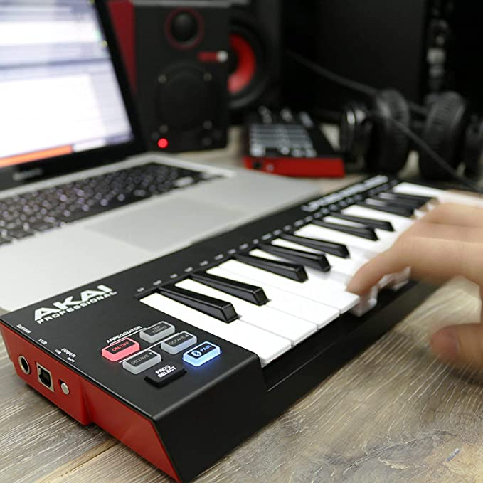 AKAI Professional LPK25 Wireless - Mini Teclado controlador USB MIDI Bluetooth de 25 teclas sensibles a la velocidad, conexión sin cables, compatible ...