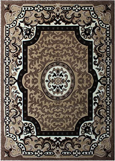 Masada Rugs Traditional Area Rug 8 Ft. X 10 Ft. 6 In. Beige Color 101