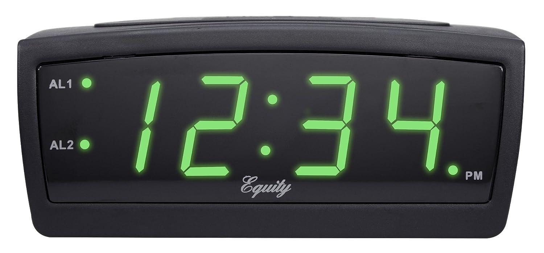 La Crosse Technology Equity 30229 Led Digital Alarm Clock, 0.9-Inch, Green