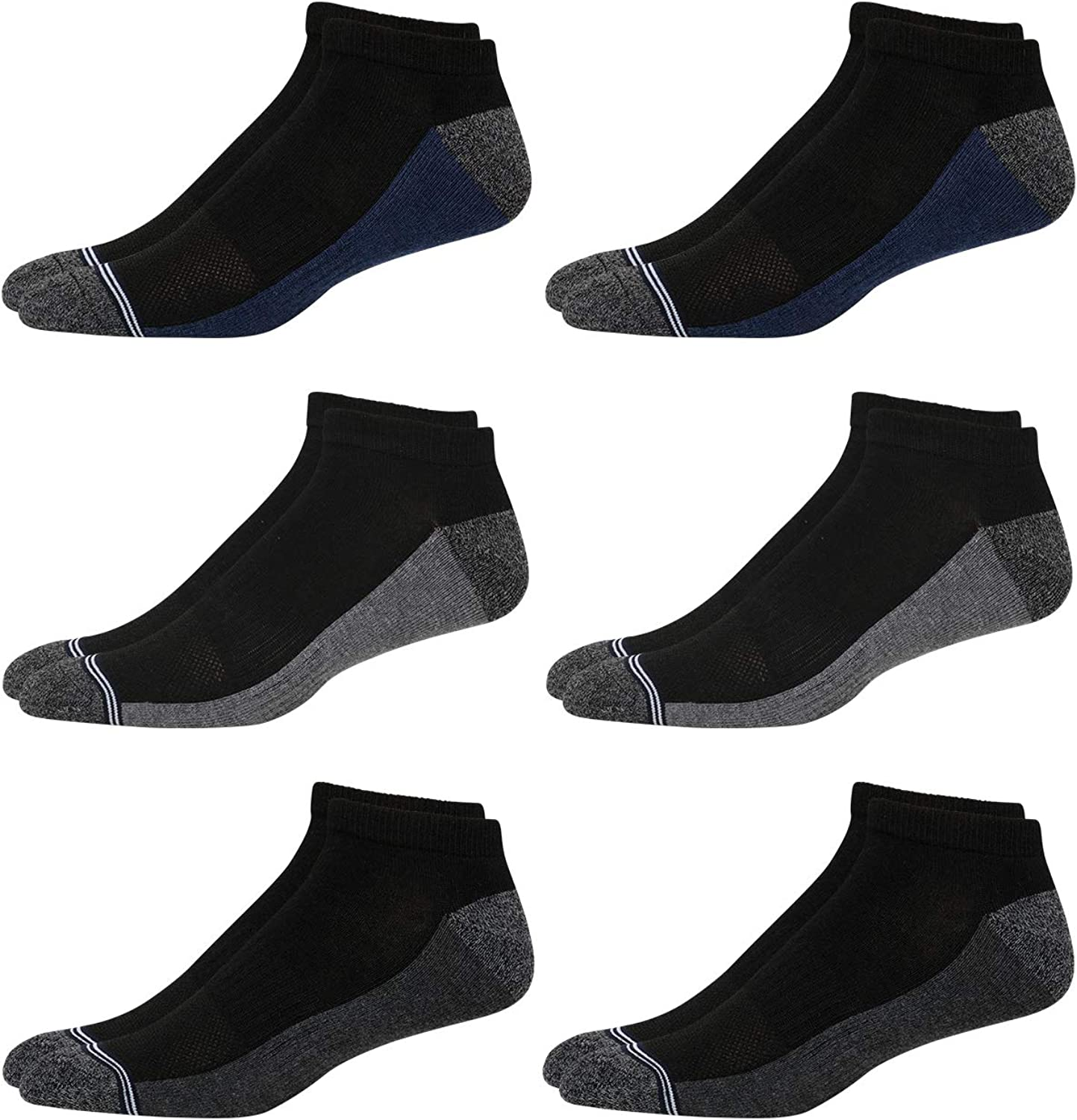 Nautica Men's Athletic Low Cut Cushioned Socks (6 Pack)