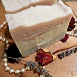 Provence Lavender Jasmine Grandiflorum Bar Soap with Sea and Rose Clay ...Face and Body Bar Soap