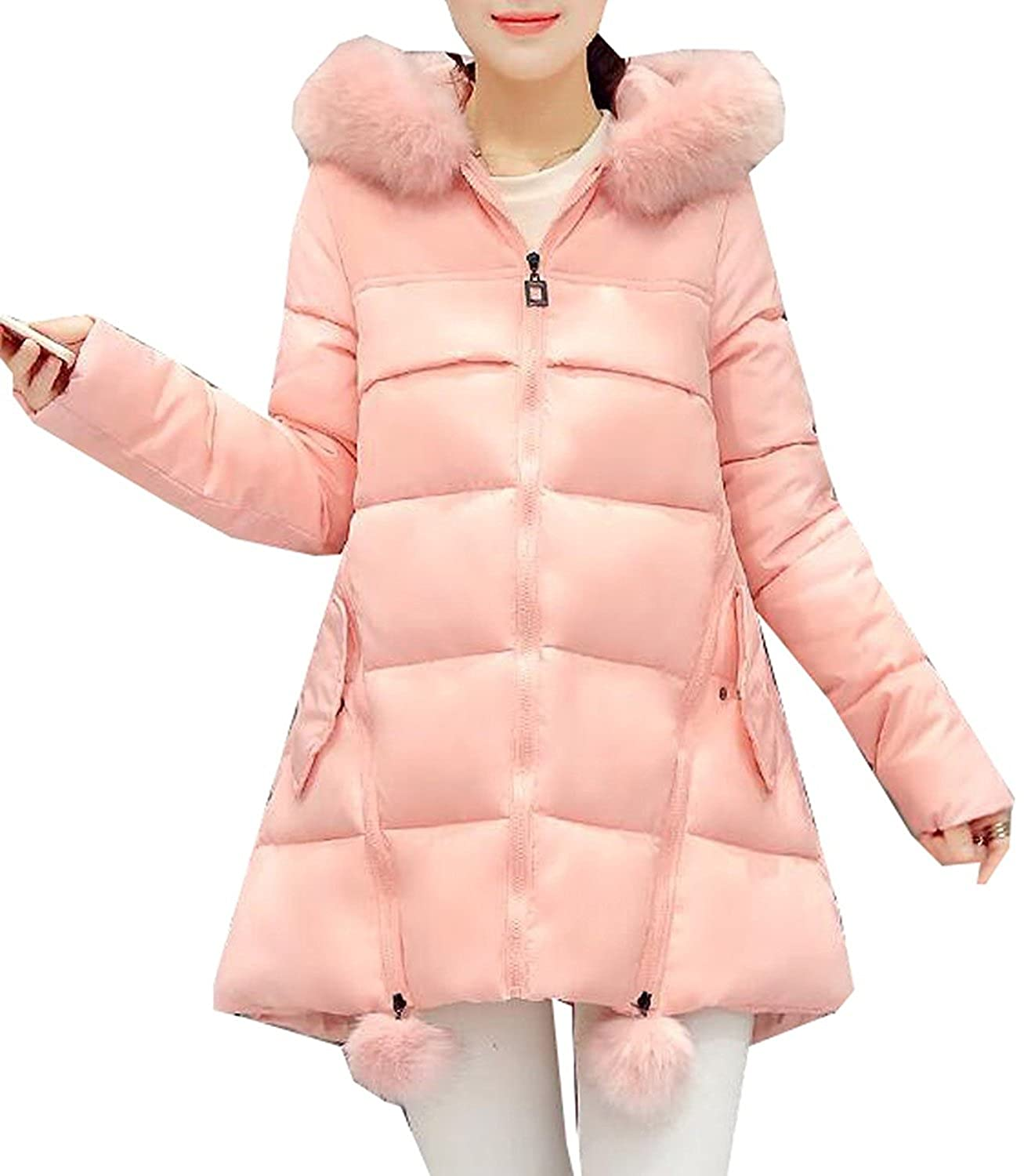 Pilusooou Women Fashion Winter Mid-length Pregnant Woman Down Coat
