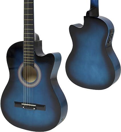 Azul – Set de guitarra acústica eléctrica guitarra eléctrica con ...