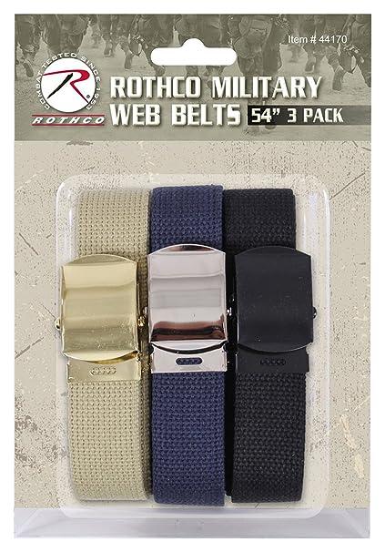 Amazon.com   Rothco Military Web Belts (3 Pack) 93d77c2af9e
