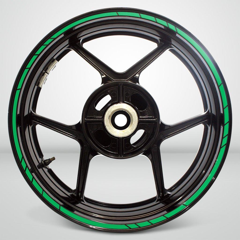 Speed Outer Rim Liner Stripe for Kawasaki Ninja 650 Reflective Green by Stickman Vinyls (Image #2)