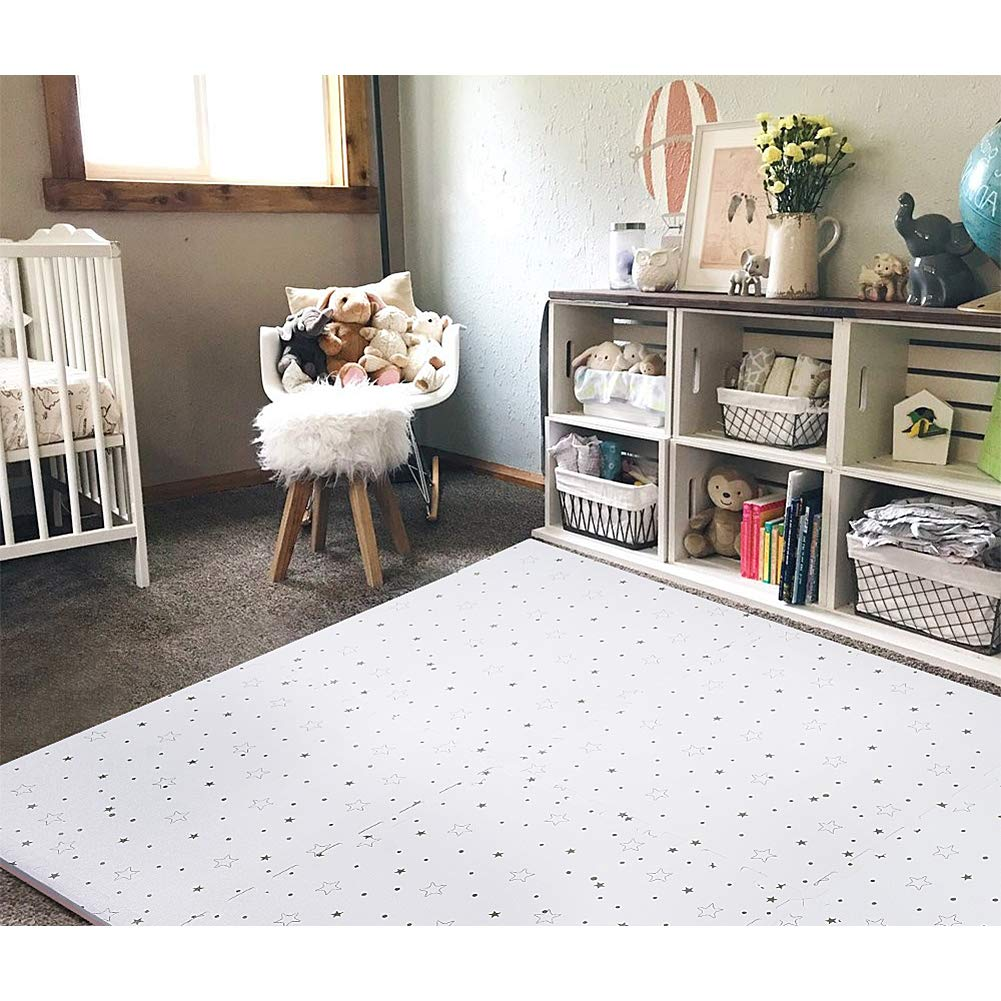 FORSTART Baby Play Mat, Non-Toxic Foam Play Mat for Infants, Extra Large (40 x 60 in) Thick (0.8 in) Playmats Floor Puzzle Tiles Soft Crawling Mat for Toddlers, Stylish & Pet-Friendly by FORSTART