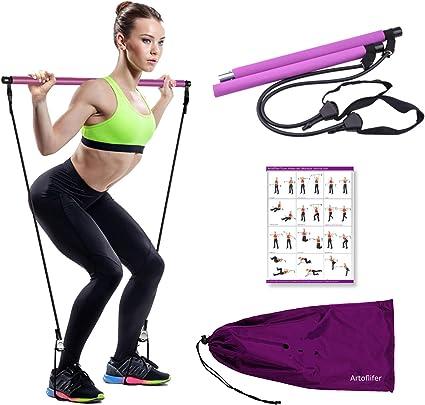 Urbnfit 45 cm Rose Ballon d/'Exercice Kit Pour Yoga Pilates /& Core Workouts Cross Fit