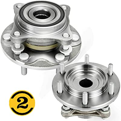 (4WD) Front Wheel Bearing Hub Assembly Fit 10-18 Lexus GX460, 03-09 Lexus GX470, 03-18 Toyota 4Runner, 07-14 Toyota FJ Cruiser, 05-18 Toyota Tacoma Hub Bearing(2PK) 6 Lugs, 4x4- 515040 950-001: Automotive