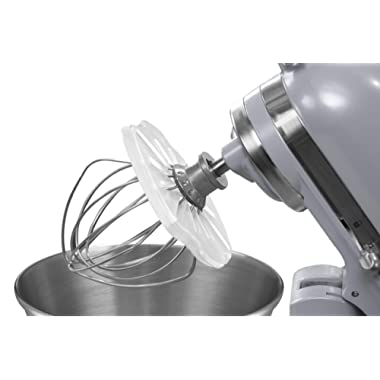 Whisk Wiper PRO for Stand Mixers - Mix Without The Mess - The Ultimate Stand Mixer Accessory - Compatible With KitchenAid Tilt-Head Stand Mixers - 4.5qt, 5qt (Color: Clear)
