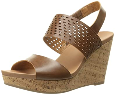 Dr. Scholl's Women's Moveit Wedge Sandal, Dark Saddle, ...