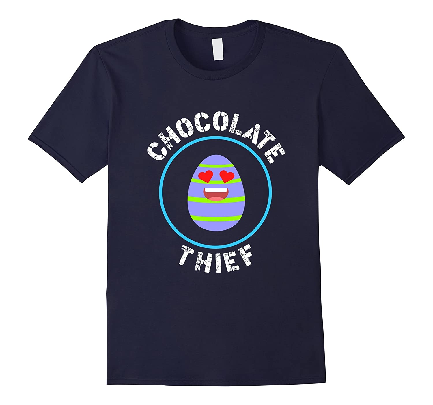 FUNNY CHOCOLATE THIEF T-SHIRT Easter Egg Bunny Gift-TD