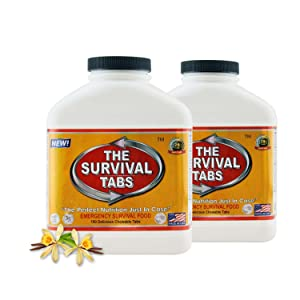 360 tabs Survival Tabs 30-day Emergency Survival MREs Meals Ready-to-eat Bugout for Travel Camping Boating Biking Hunting Activities Gluten Free and Non-GMO 25 Years Shelf Life - Vanilla Malt Flavor