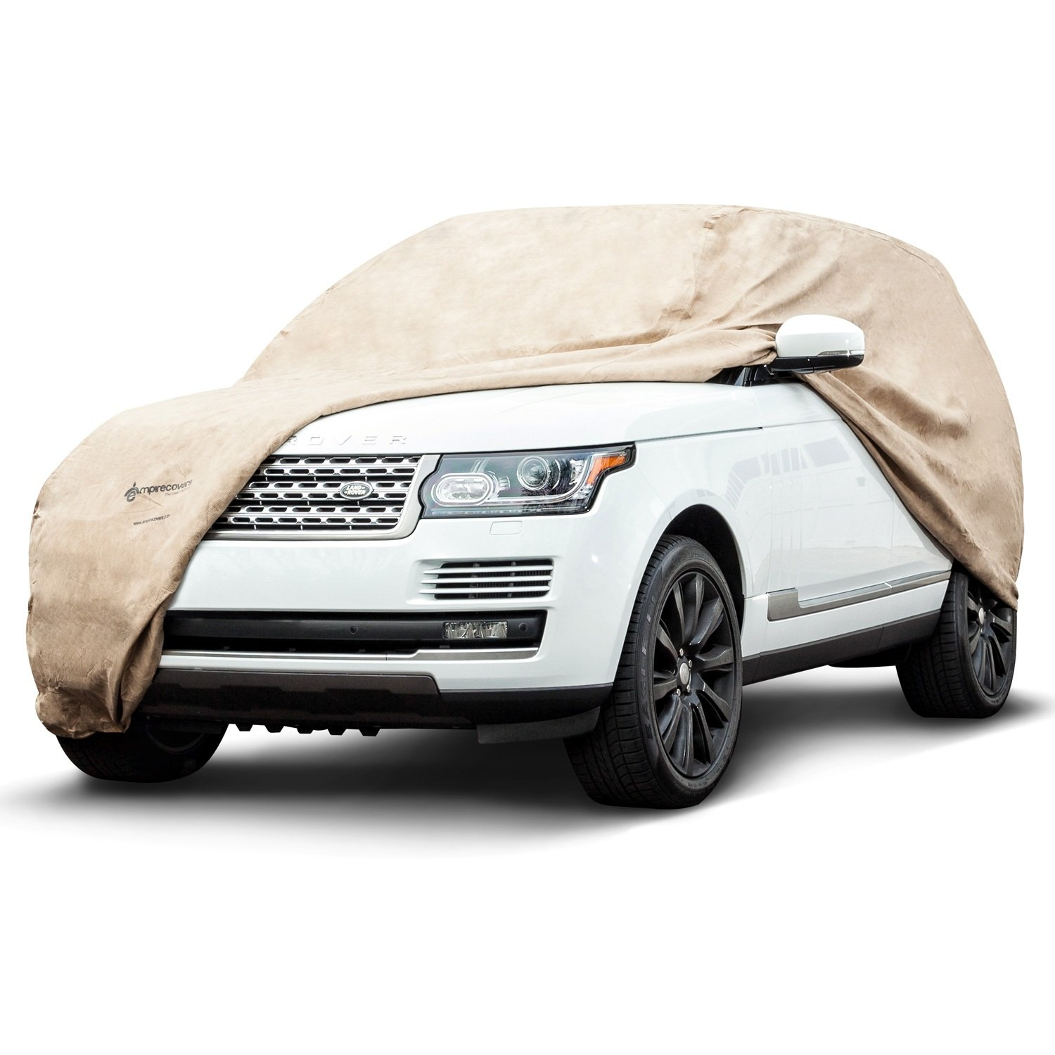 Dustproof Budge A- A-5 Tan 22 feet Protector IV Waterproof UV Treated Cover Fits Cars up to 264 4 Layer Reliable Weather Protection