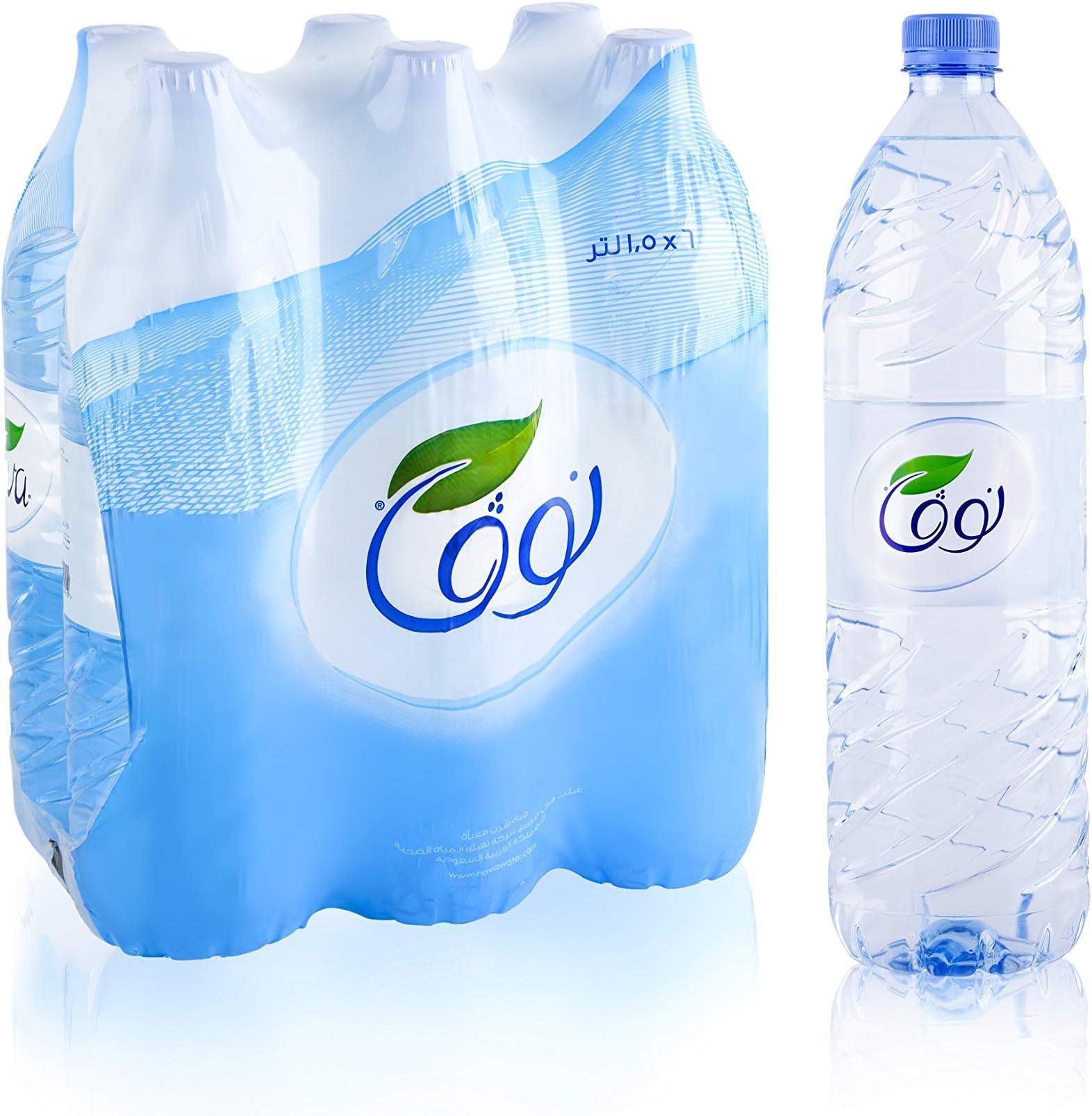 سعر نوفا مياه معدنية معبأة شرينك 6 1 5 لتر فى السعودية بواسطة امازون السعودية كان بكام