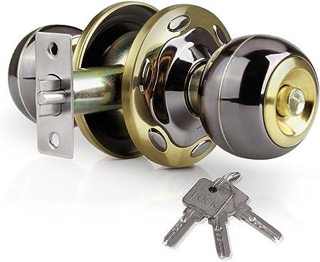 Diy Materials Ball Door Lock Deadbolt Door Knob Handle Lock With Keys For Bedroom Bathroom Espacomakarem Com Br
