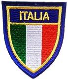 Parches - ITALIA bandera Italia - azul - 6.0x7.4cm - termoadhesivos bordados aplique para ropa