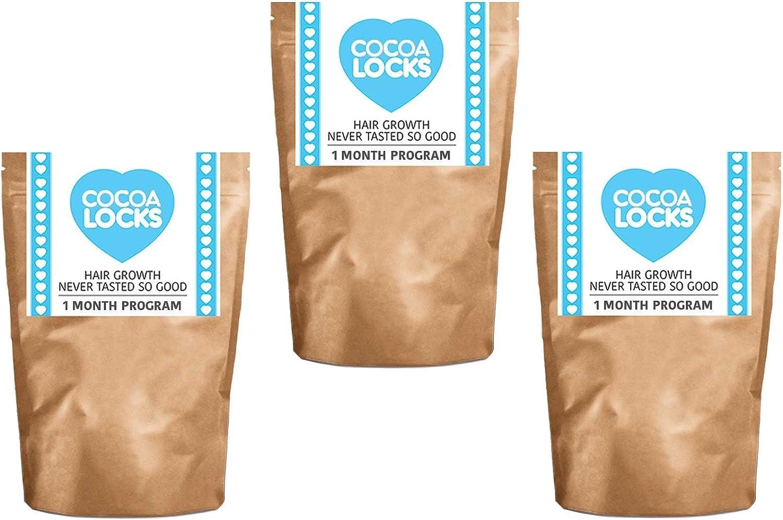 Pack de tres Cocoa Locks Chocolate Drink para un crecimiento rápido pelo por 28 días Paquete (3 x 28 días): Amazon.es: Salud y cuidado personal