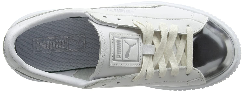 Puma Damen Basket Platform Metallic Turnschuhe Turnschuhe Metallic Weiß (Weiß- Silber) 37 EU 95e60e