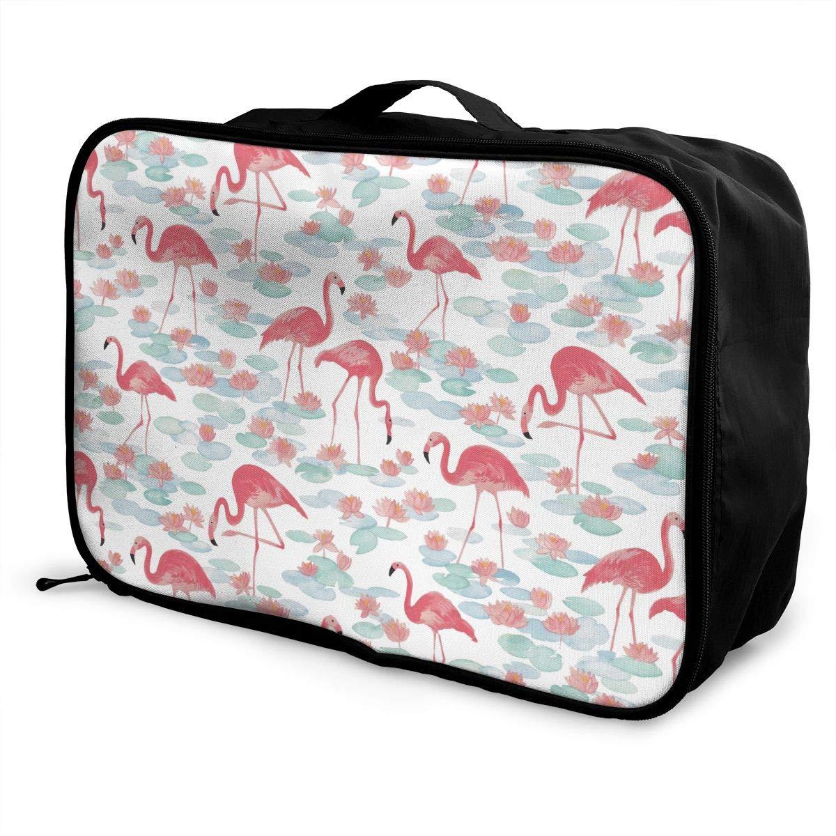 YueLJB Vintage Flamingo Pool Lightweight Large Capacity Portable Luggage Bag Travel Duffel Bag Storage Carry Luggage Duffle Tote Bag