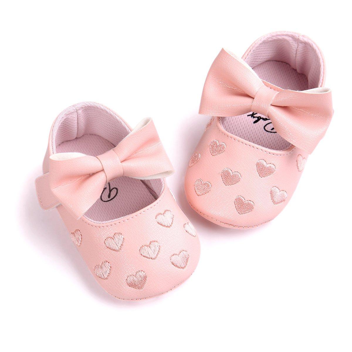 Royal Victory ベビーガールズ B074P39Q46 12cm (6-12months) Heart Pink Heart Pink 12cm (6-12months)